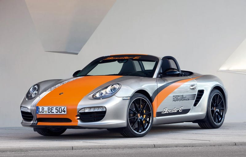 Electric Porsche Boxster switched on in Stuttgart
