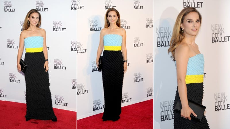 Natalie Portman Color Blocks at the Ballet