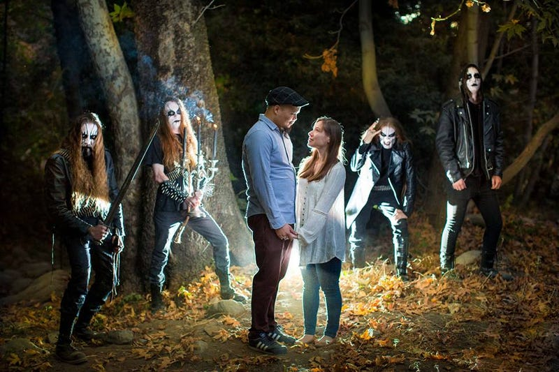 Black Metal Band Crashes Engagement Shoot In the Woods