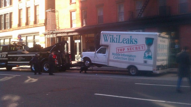 Wikileaks Truck Recovered From the Law's Cruel Grasp