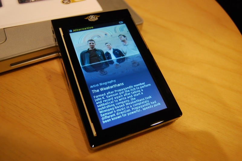 Slacker Portable Personalized Radio Player Video and Gallery