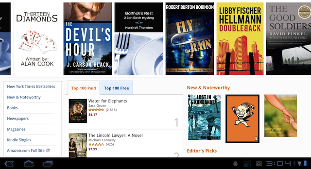 Kindle App for Android Gets Updated to Support Android Honeycomb Tablets