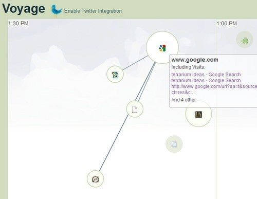 Voyage Turns Your Firefox History into a Visual Map