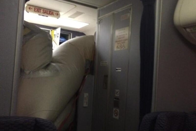Flight Makes Emergency Landing After Evacuation Slide Opens in Air