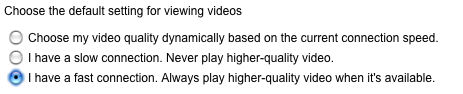 Watch YouTube High Quality Videos by Default