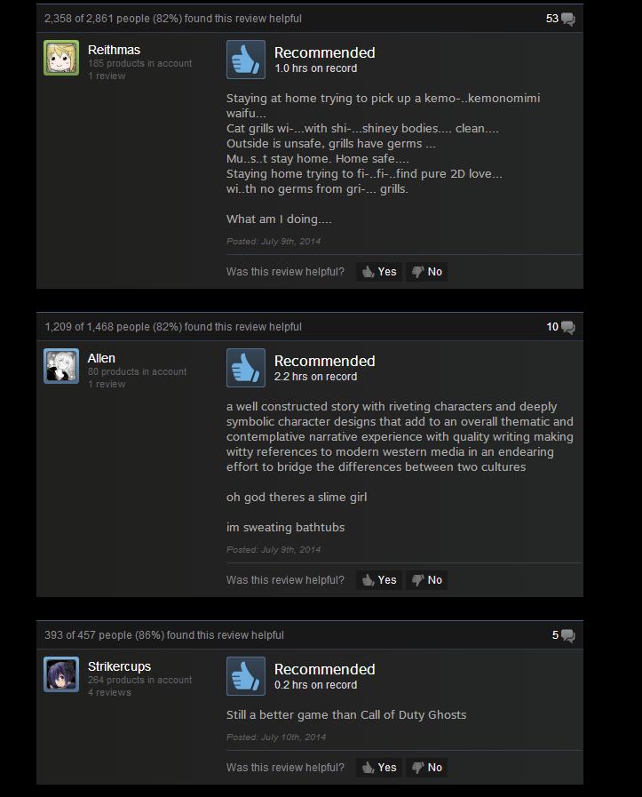 Sakura Spirit, As Told By Steam Reviews