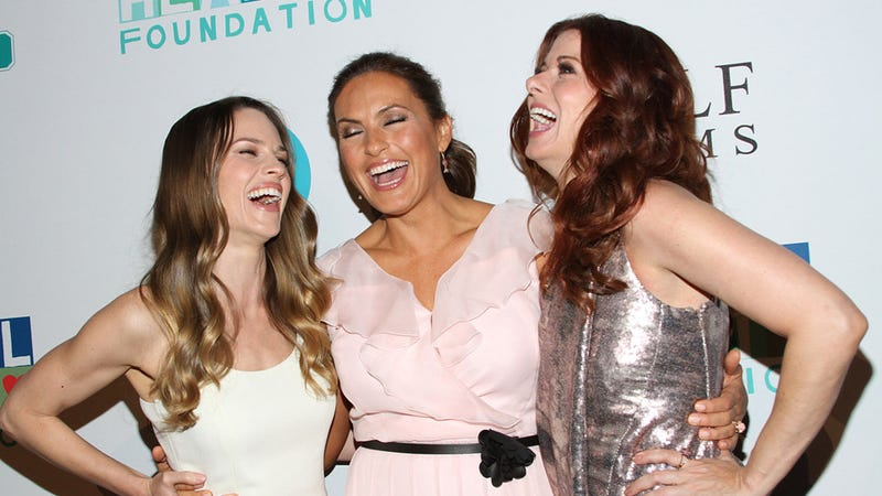 Hilary Swank, Mariska Hargitay, and Debra Messing Have the Time of Their Lives