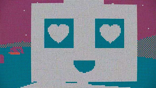 1300 cubos de Rubik cuentan la historia de amor de este robo