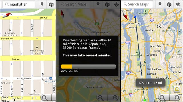 Google Maps for Android Labs Offers Offline Caching