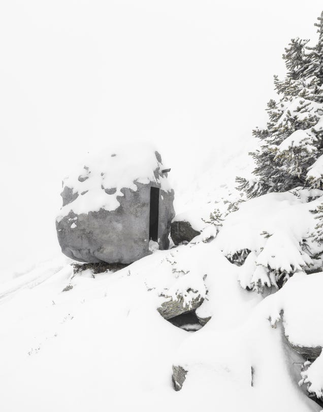 This Fake Boulder In the Alps Is Actually a Tiny, Perfect Cabin