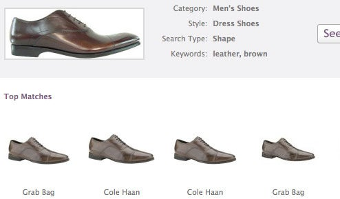 Like.com Visual Search Matches Shoes, Bags and Dresses