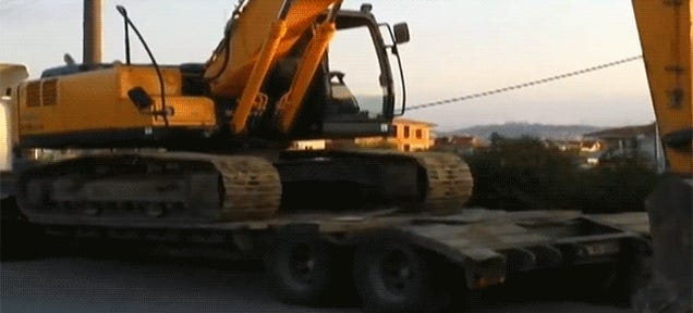 What to do if your truck runs out of gas and you carry an excavator