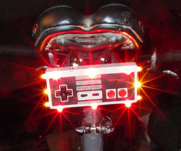 Completely Superfluous NES Controller Bike Light