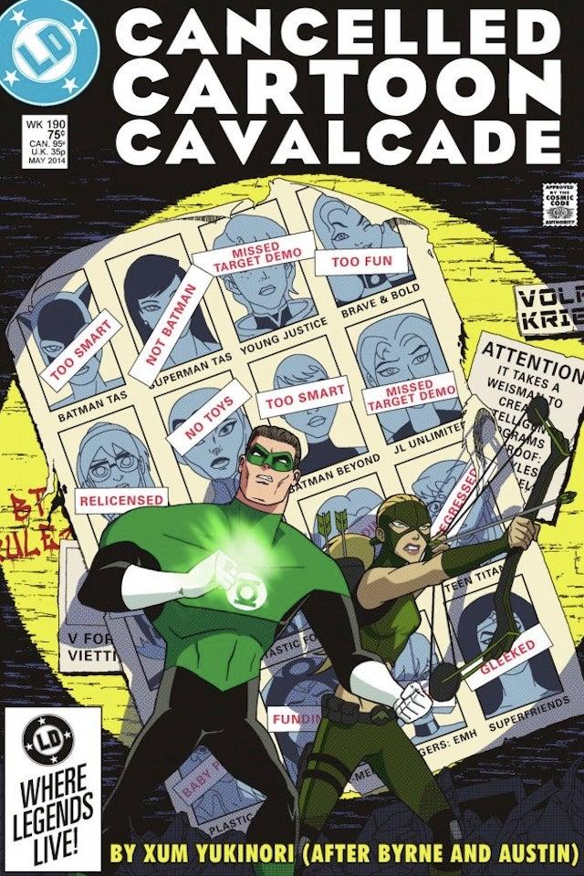 Cancelled Superhero Cartoons On Days Of Future Past Cover Makes Us Sad