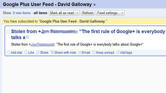 Create RSS Feeds for Google+ Profiles