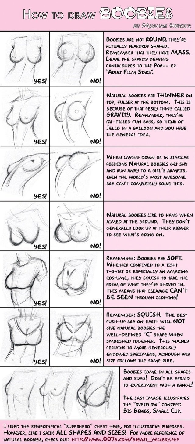 Here's How To Draw Real 'Boobies'