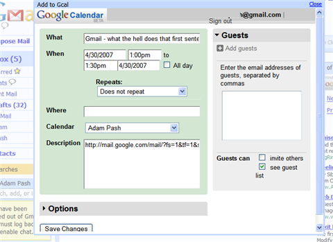 DelegateGcal Gmail tickler Firefox extension (All Platforms)