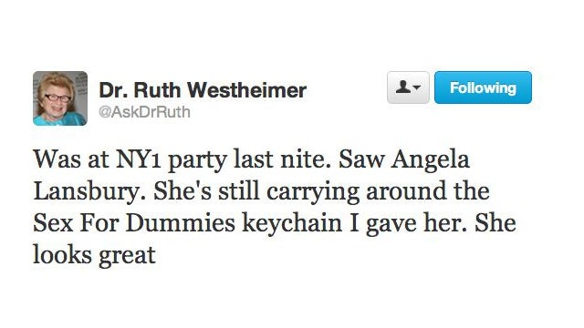 Dr. Ruth & Angela Lansbury Were Out Partying Last Night