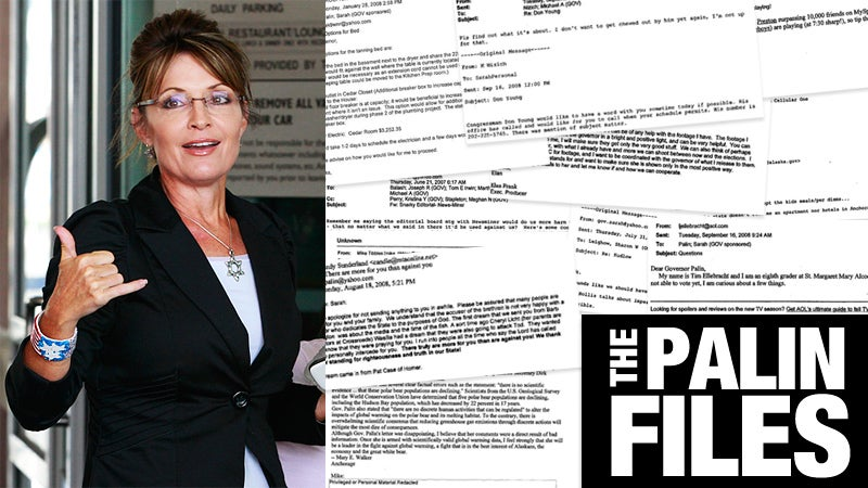 'Bring Beef, Tequila, and Condoms': The Sarah Palin E-Mails So Far