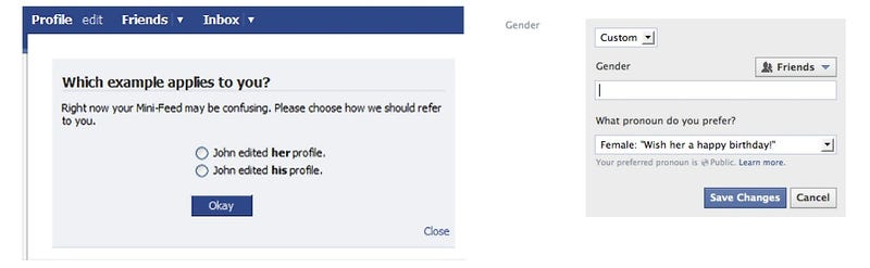 Facebook Offers New Customizable Gender Option