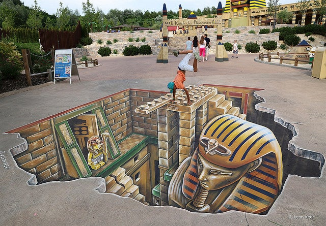 3D Street Art At Legoland