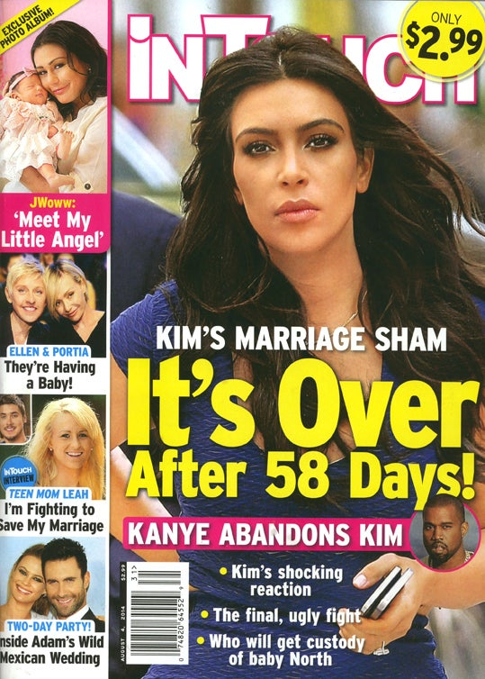 This Week in Tabloids: Kim's Failed Marriage Has Given Her 'Elbow Fat'