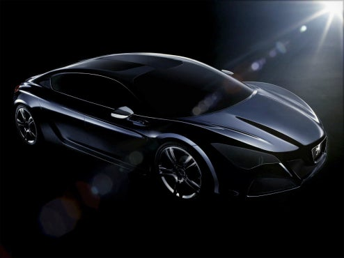 "Peugeot Reveals Teaser Shots Of ""RC..."" GT Hybrid Concept For Paris"