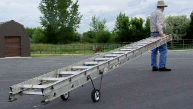 DIY Aluminum Ladder Wheel Truck