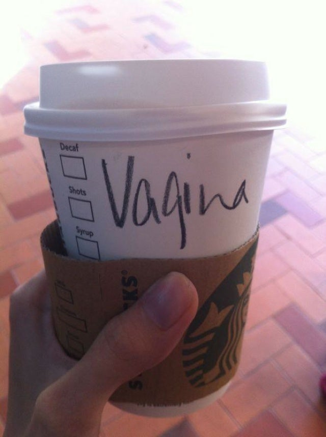 "Woman Gets Upset After Starbucks Writes ""Vagina"" Instead of ""Virginia"""