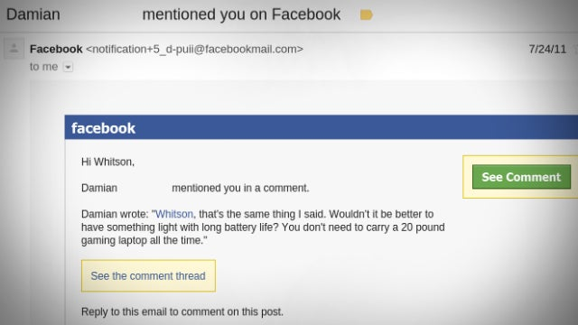 Make Facebook More Searchable with Email Notifications