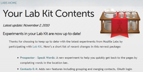 Lab Kit Keeps Firefox 4 Stocked with the Latest Experiments