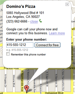 Find your cell phone with Google Maps' click-to-call