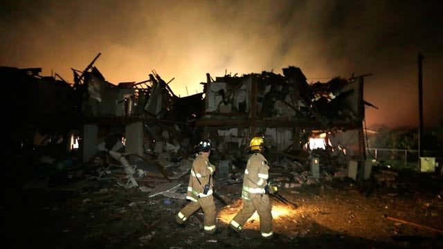 Explosion at Texas Fertilizer Plant Kills up to 15, Injures Over 160