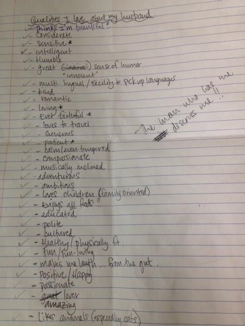 Here's a Single Woman's List of What She's Looking for in a Man. Is It Too Long?