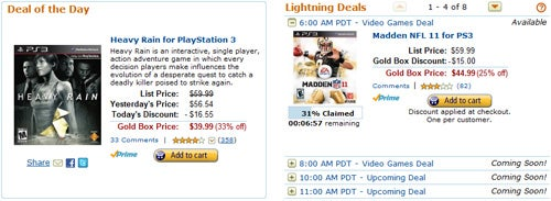 It's The PlayStation 3's Turn In The Amazon Gold Box