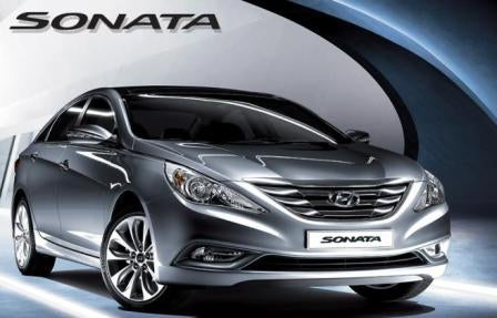 2011 Hyundai Sonata Reveal Shots