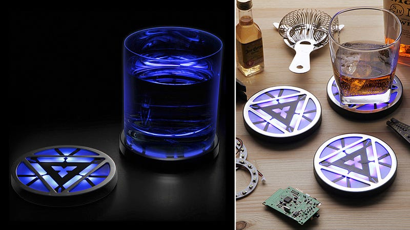 Glowing Arc Reactor Coasters Are Just Enabling Tony Stark