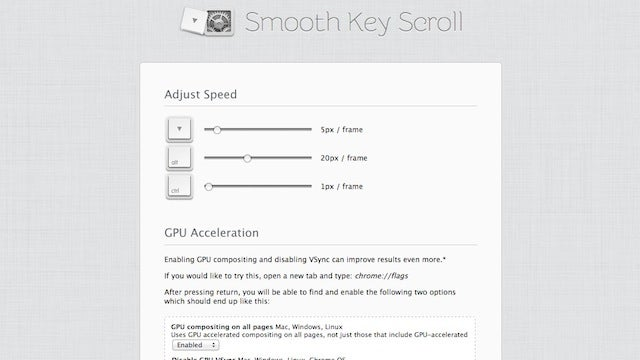 Smooth Key Scroll for Chrome Makes Keyboard Scrolling Better