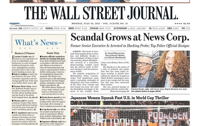 Parsing the Wall Street Journal's Catastrophic News Corp Defense