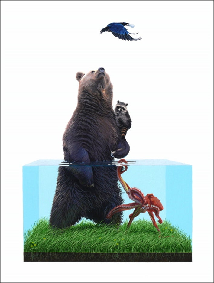 Josh Keyes: A Juxtaposition Of Car And Nature