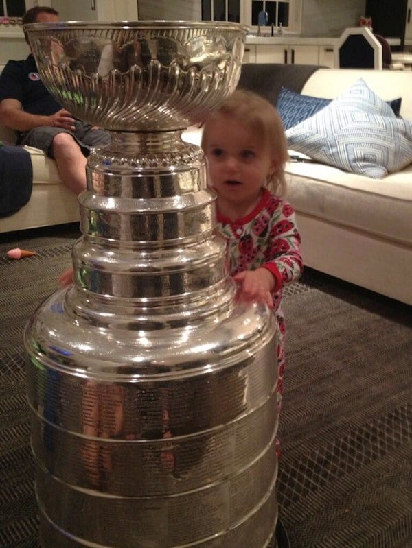 Patrick Sharp's Daughter Is The Cutest Sports Baby