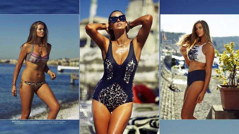 Plus-Sized Model Robyn Lawley Models Her Own Swimsuit Designs in Cosmo