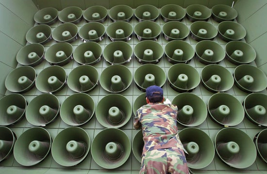 North Korea Will Turn Seoul 'Into a Sea of Flame' Unless Music Is Turned Down