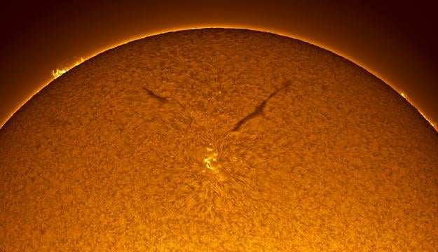 A Sunspot Twice The Size Of Earth
