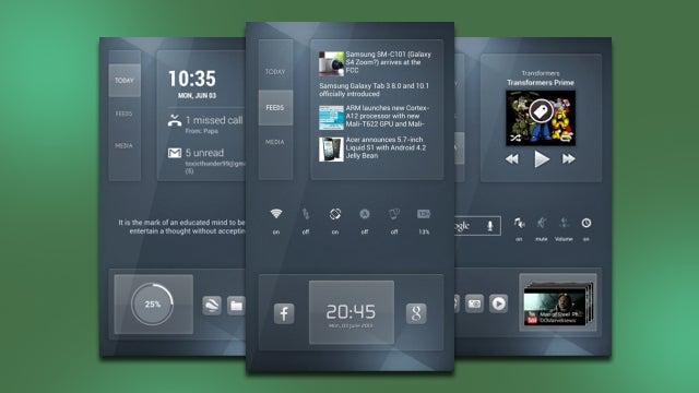 The Suavity Home Screen