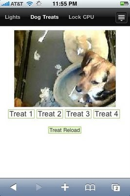 Homebrew iPhone App Lets You Reward Sparky From Afar