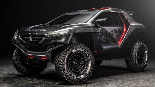This is the Peugeot Dakar racer