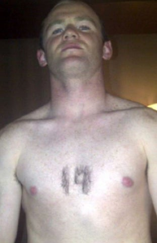 Wayne Rooney Decided To Send A Message With Chest Hair Today