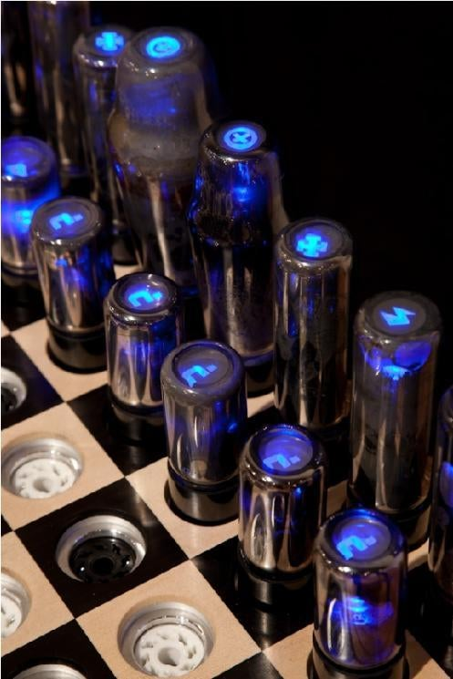 Vacuum Tube Chess Set