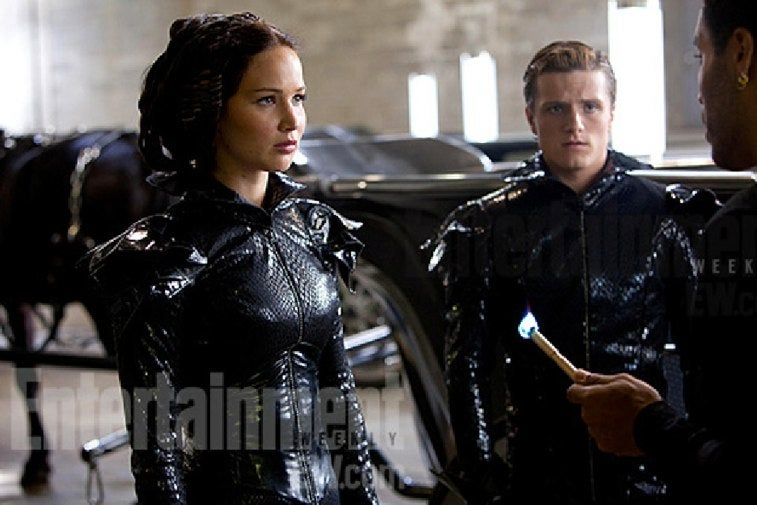 First look at Katniss' Fire Dress from The Hunger Games?